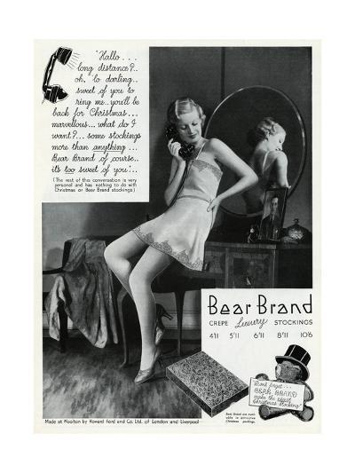 Advert for Stockings by Bear Brand 1934--Giclee Print