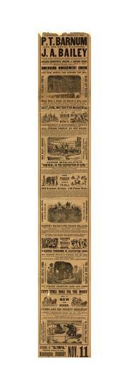 Advert for the Appearance of P T Barnum and J a Bailey's Show at Olympia--Giclee Print
