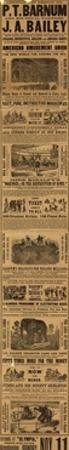 Advert for the Appearance of P T Barnum and J a Bailey's Show at Olympia