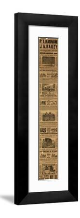 Advert for the Appearance of P T Barnum and J a Bailey's Show at Olympia--Framed Giclee Print