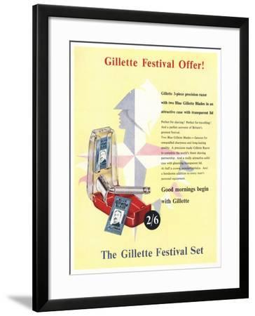 Advert for the Gillette Festival Set--Framed Giclee Print