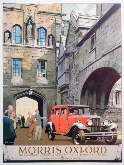 Advert for the Morris Oxford Motor Car, 1930--Giclee Print