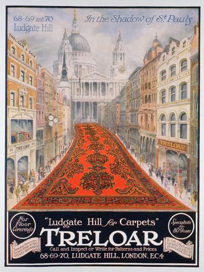 Advert for Treloar Carpets, 1920--Giclee Print