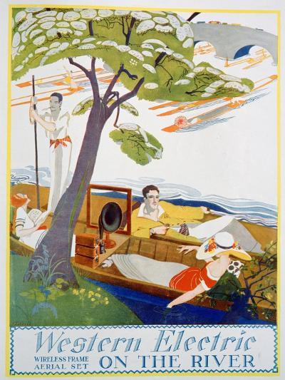 Advert for Western Electric Company Wireless Frame Aerial Sets, 1923--Giclee Print