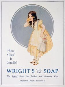 Advert for Wright's Coal Tar Soap, 1923