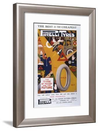 Advert, Pirelli Tyres--Framed Giclee Print