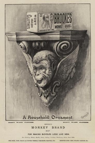 Advertisement, Brooke's Soap--Giclee Print