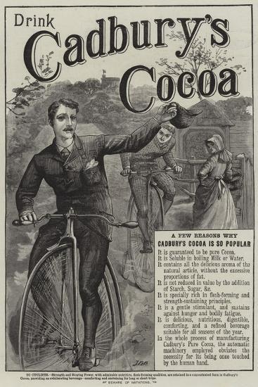 Advertisement, Cadbury's Cocoa--Giclee Print