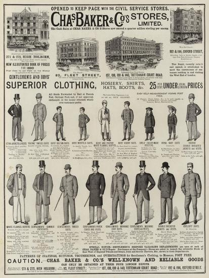Advertisement, Charles Baker and Co--Giclee Print