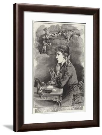 Advertisement, Circular Pointed Pens--Framed Giclee Print
