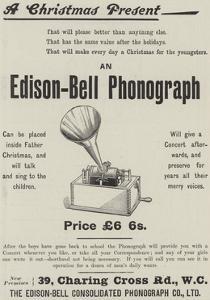 Advertisement, Edison-Bell Phonograph