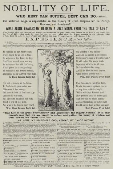 Advertisement, Eno's Fruit Salt--Giclee Print