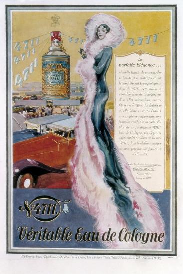Advertisement for '4711' Eau De Cologne, 1931--Giclee Print