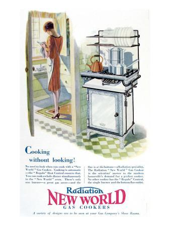Advertisement for a Gas Cooker Produced by the 'New World' Company, 1928--Giclee Print