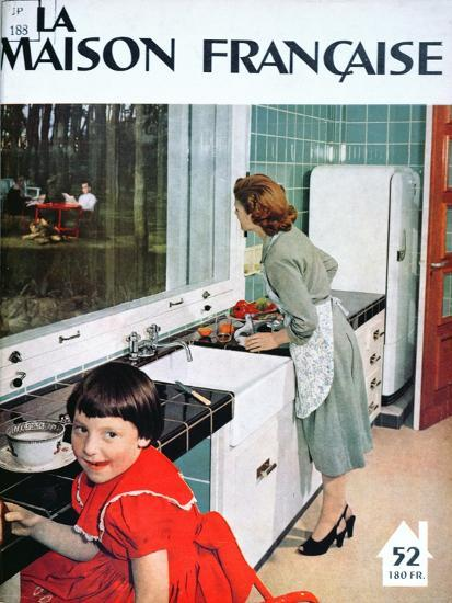 Advertisement for a Kitchen, from 'La Maison Francaise', Front Cover, November 1951--Giclee Print