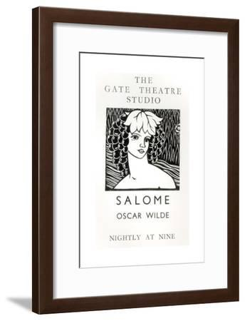 Advertisement for a Performance of Salome, by Oscar Wilde--Framed Giclee Print
