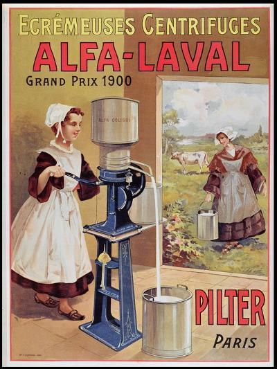 Advertisement for Alfa-Laval Cream Separators, 1905--Giclee Print