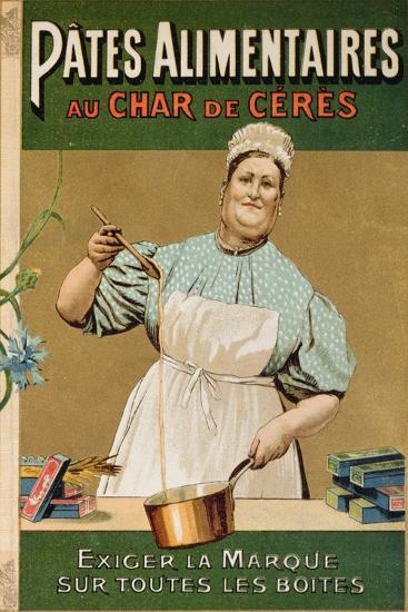 Advertisement for 'Au Char De Ceres' Pasta, C.1900--Giclee Print
