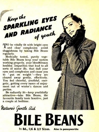 Advertisement for 'Bile Beans, 1950S--Giclee Print