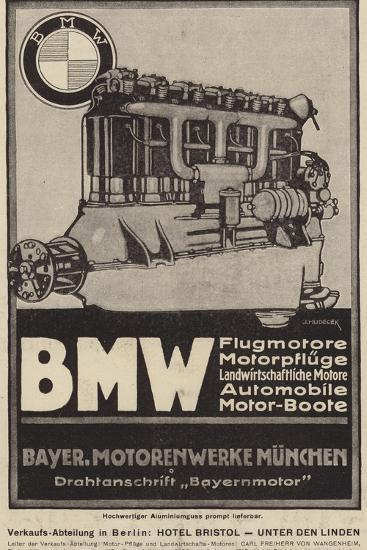 Advertisement for Bmw Engines--Giclee Print