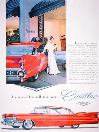 Advertisement for Cadillac Cars, 1959