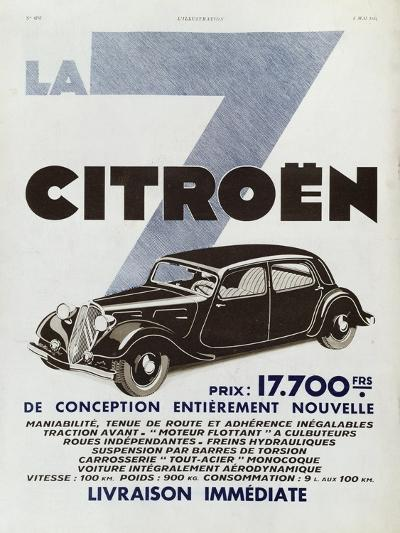Advertisement for Citroen Motor Cars, 1934--Giclee Print