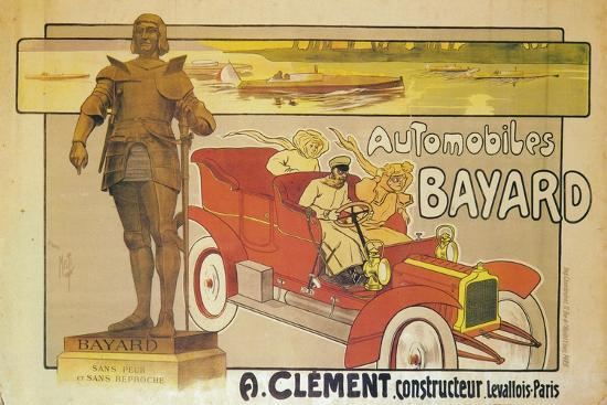 Advertisement for Clement-Bayard cars, c1905-Unknown-Giclee Print