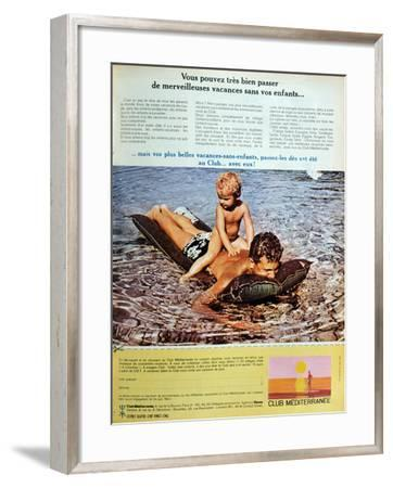 Advertisement for 'Club Mediterranee' from Elle Magazine, 11th May 1967--Framed Giclee Print
