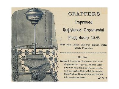 Advertisement for Crapper's Toilet--Giclee Print
