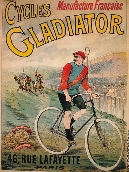 Advertisement for Cycles Gladiator bicycles, c1900-Unknown-Giclee Print