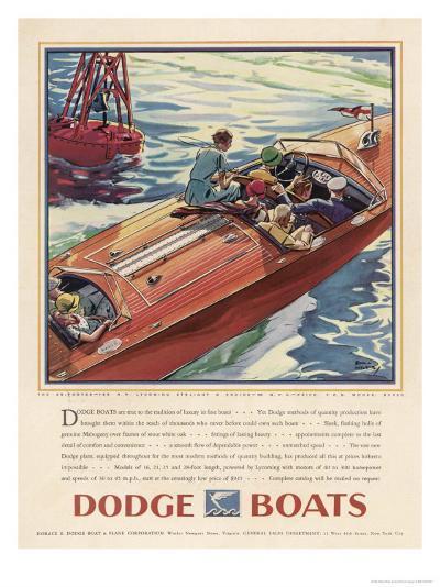 Advertisement for Dodge Boats-Ellis Wilson-Giclee Print