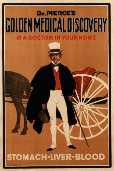 Advertisement for 'Dr. Pierce's Tonic', 1910s-English School-Giclee Print