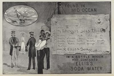 Advertisement for Ellis's Soda Water--Giclee Print