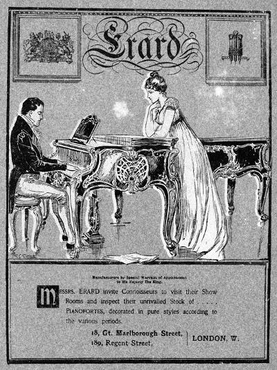 Advertisement for Erard Pianos, 1901--Giclee Print