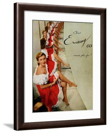 Advertisement for 'Exciting' Stockings, from 'Femina' Magazine, October 1950--Framed Giclee Print