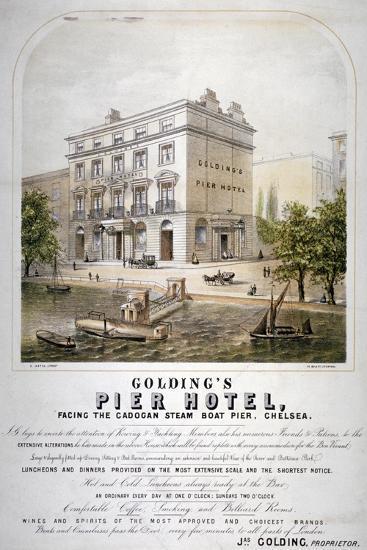 Advertisement for Goldings Pier Hotel, Chelsea, London, C1860--Giclee Print