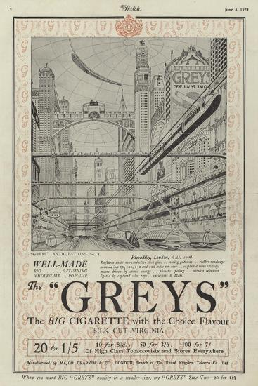 Advertisement for Greys Cigarettes--Giclee Print