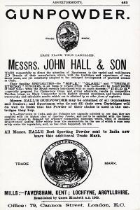 Advertisement for Gunpowder by Messrs. John Hall and Son