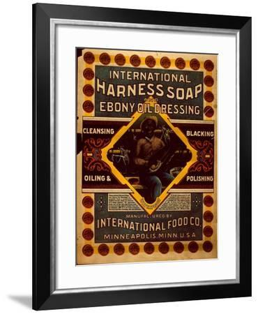 Advertisement for Harness Soap and Ebony Oil Dressing--Framed Giclee Print