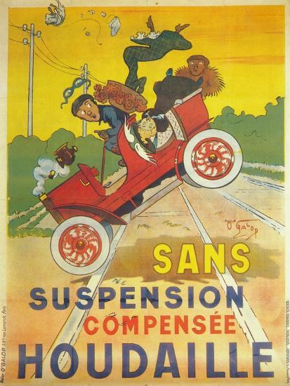 Advertisement for Houdaille car suspension, c1900-Unknown-Giclee Print