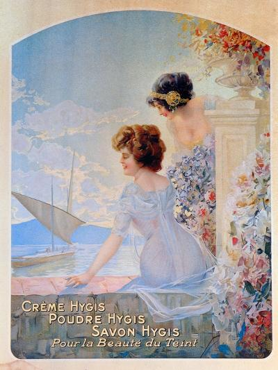 Advertisement for Hygis Beauty Products for the Skin, c.1910-French School-Giclee Print