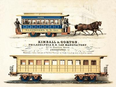 Advertisement for Kimball and Gorton, Philadelphia R.R. Car Manufactory, Published C.1857--Giclee Print