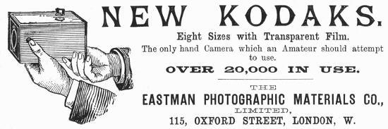 Advertisement for Kodak Cameras, 1890--Giclee Print