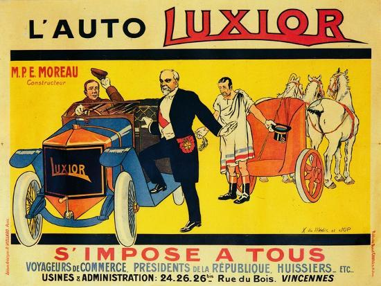 Advertisement for Luxior cars, c1912-1914-Unknown-Giclee Print