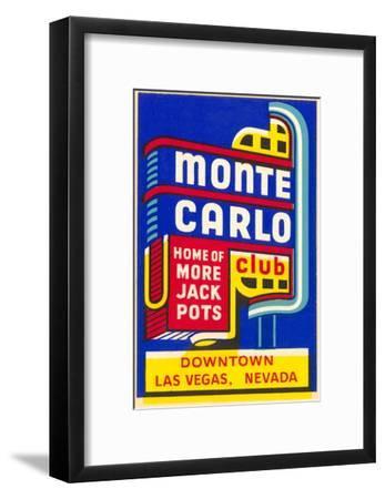 Advertisement for Monte Carlo Club, Las Vegas, Nevada