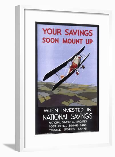 Advertisement for National Savings--Framed Giclee Print