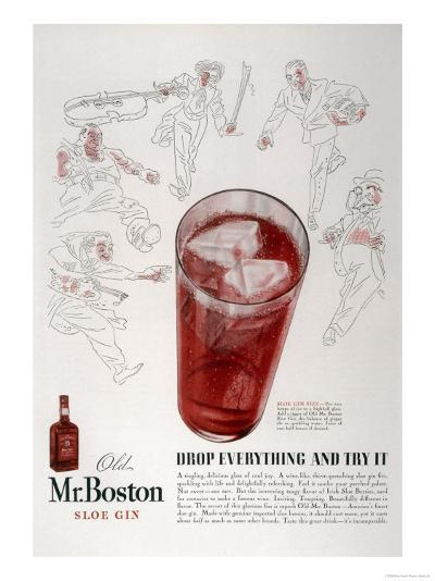 Advertisement for Old Mr. Boston Slow Gin--Giclee Print