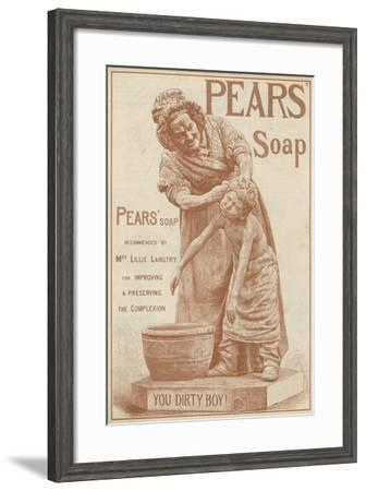 Advertisement for Pears' Soap--Framed Giclee Print