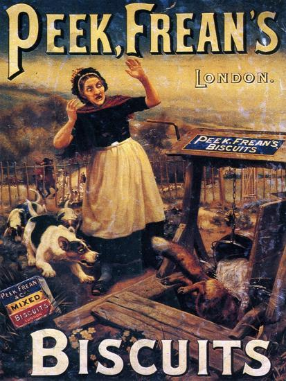 Advertisement for Peek Frean's Biscuits, Late 19th Century--Giclee Print