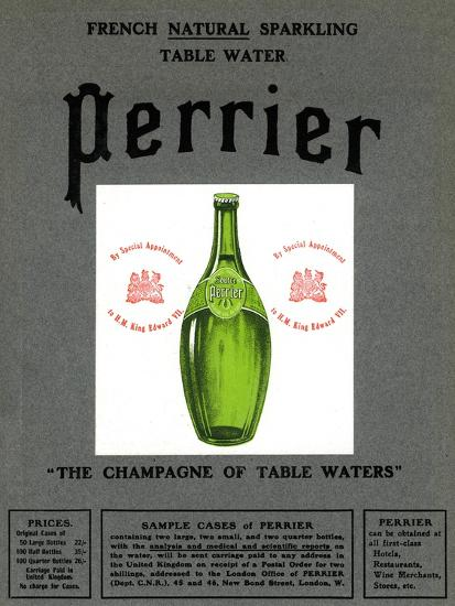 Advertisement for Perrier water, 1905. Artist: Unknown-Unknown-Giclee Print